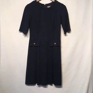 Vince Camuto Navy With Gold Buttons Dress Size 6
